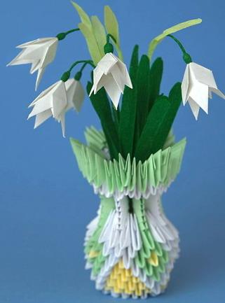 Модульное оригами ваза - Схемы оригами из бумаги.