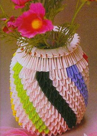Скачать модульное оригами ваза схема, план конспекты