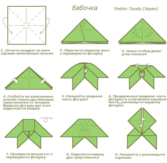 Бабочка из бумаги оригами своими руками 84