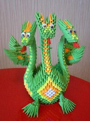 Оригами схема дракон - Схемы оригами из бумаги.