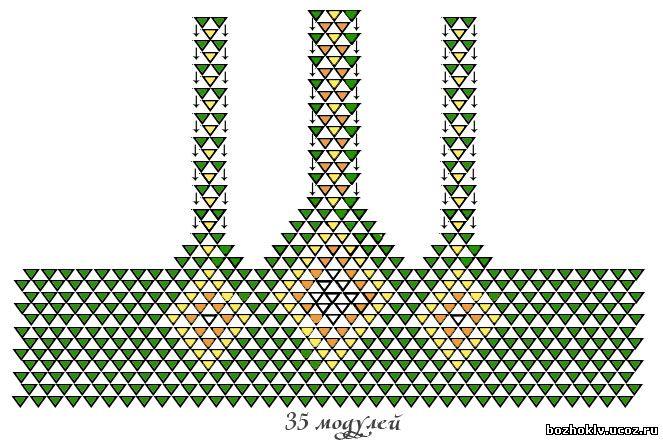 Модульного оригами схемы корзинки - Скачать Просто.