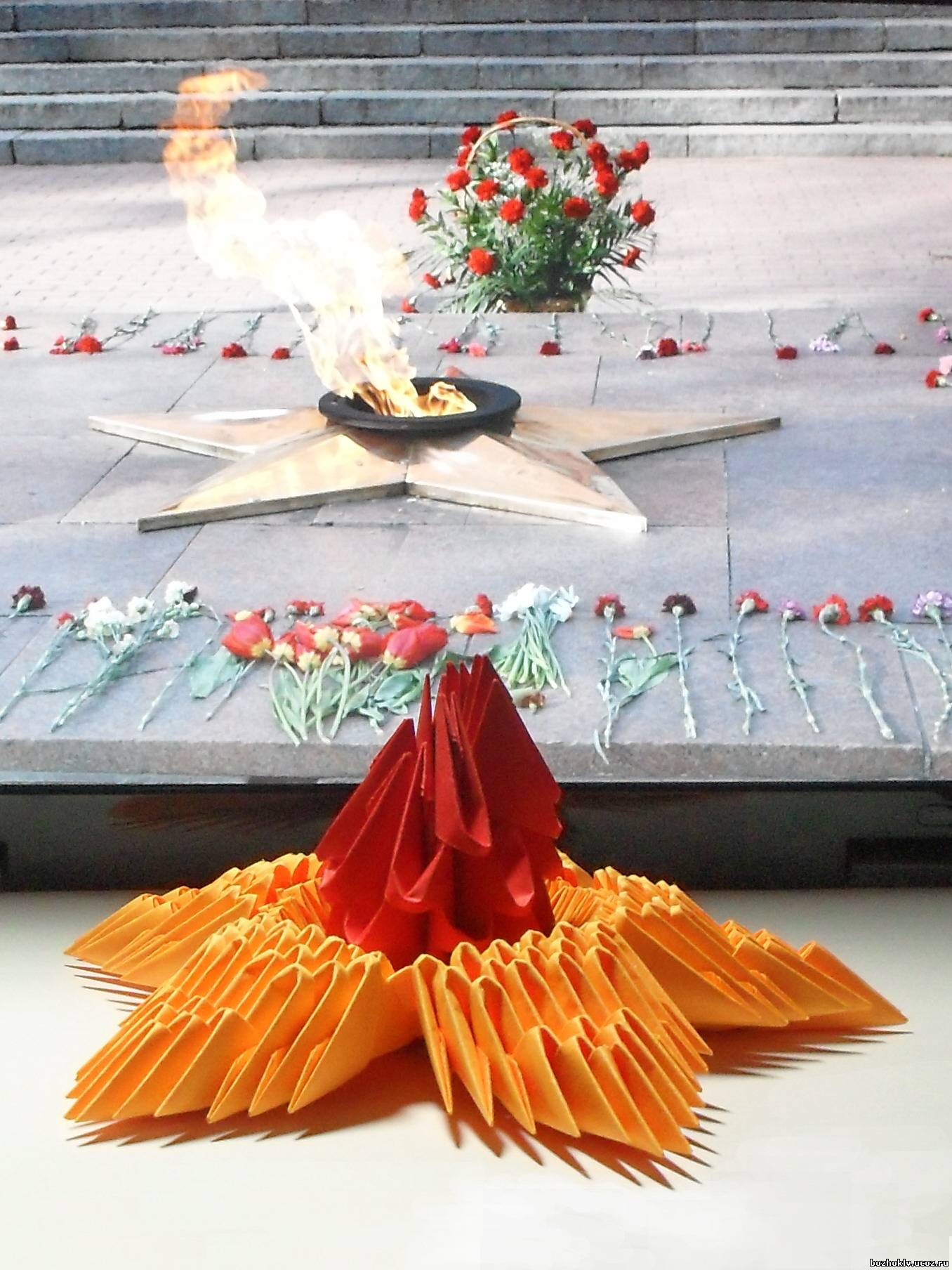 Вечный огонь поделка своими руками