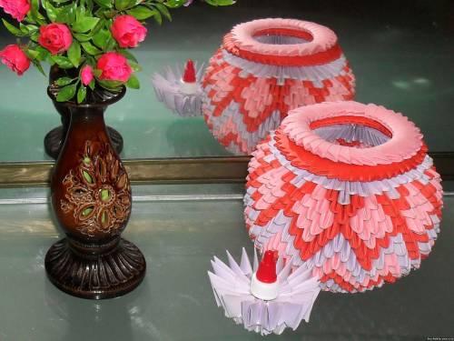Модульное оригами схема вазы картинки