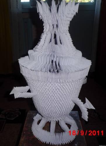 оригами схема — ваза из