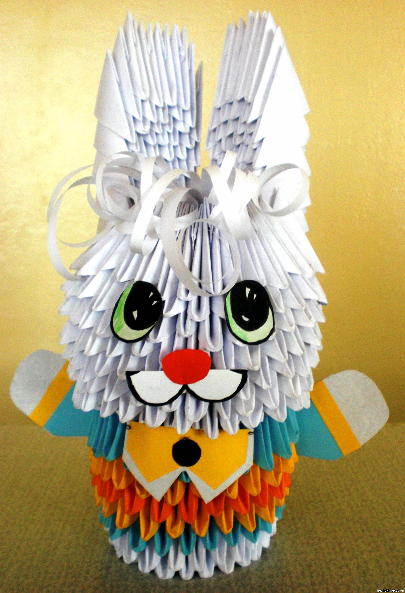 Как сделать зайца оригами из модулей