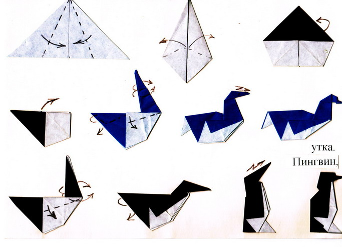 Как сделать пингвинов из бумаги
