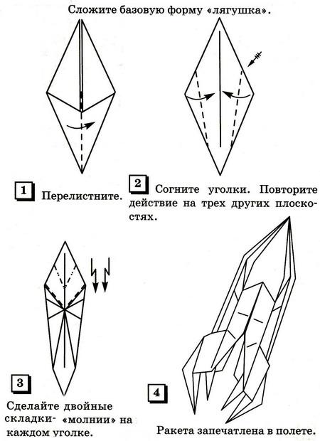 Как сделать ракету из бумаги схемы оригами