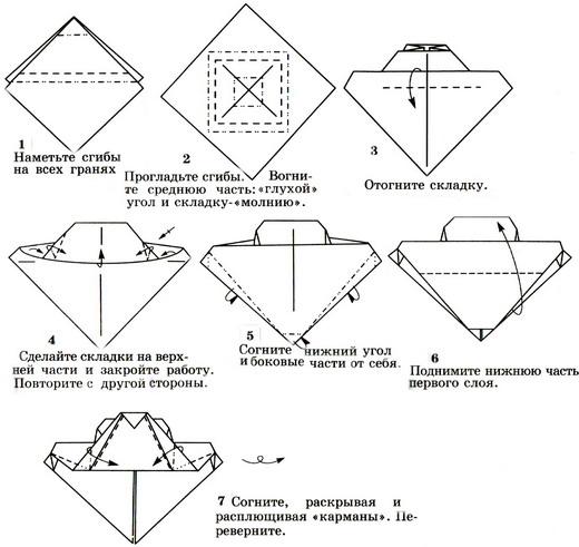 Схемы модульного оригами слоника