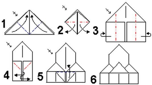 Модульного оригами подробная схема